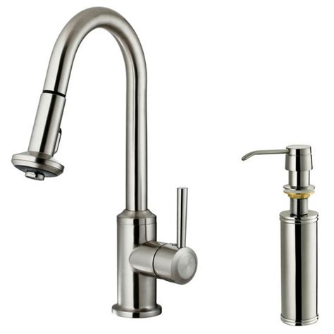 Vigo Faucet Review by Vigo Pull Out Spray Kitchen Faucet With Soap Dispenser