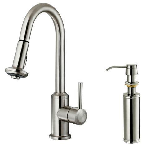 vigo kitchen faucet vigo pull out spray kitchen faucet with soap dispenser