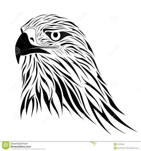 hawk tattoo stock photo image 13128190
