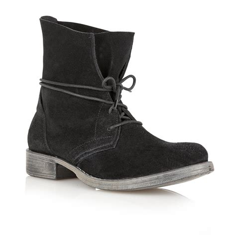 buy ravel 65 lace up ankle boots in black suede