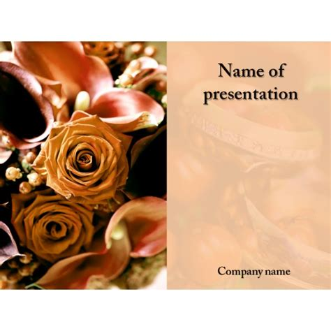 Free Wedding Celebration Powerpoint Template Background Wedding Powerpoint Templates Free