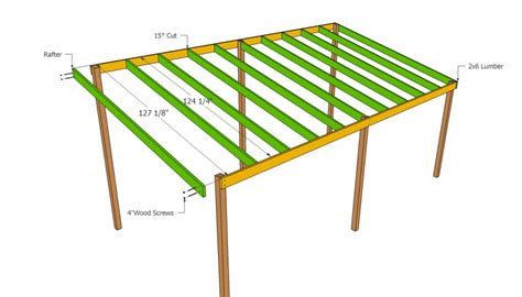 Wooden Carport Plans Howtospecialist How To Build Lean To Building Plans Free