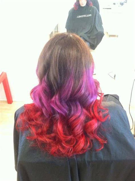 bright color ombre hairstyles bright red ombre hair color jpg 700 215 937 inspiration