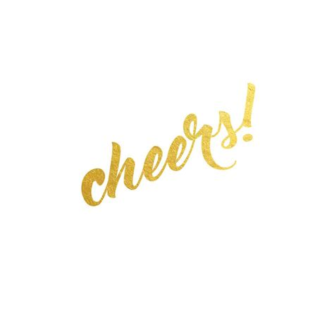 cheers metallic temporary flash tattoo gold ink tattoo