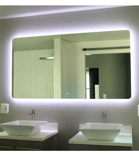 backlit bathroom cabinet lit bathroom mirrors best home design 2018