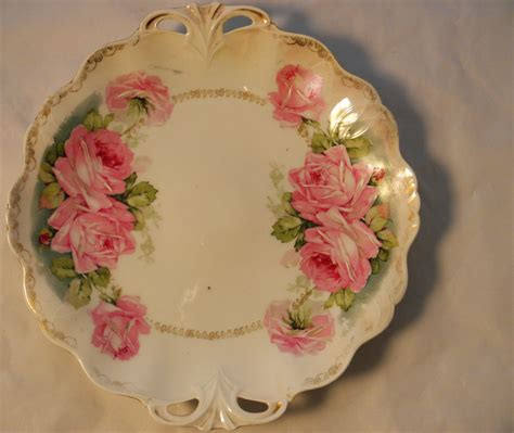 porcelain prussia antique plate with 1890 hallmark