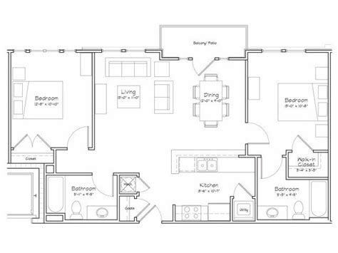 house plans with mil apartment 2d floor plan image 1 for the 2 bedroom 2 bathroom 900