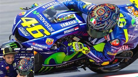 Helm Balap Valentino valentino pamer helm terbaru seni tradisional meksiko untuk tes musim motogp 2018