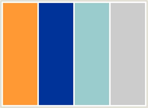 orange and blue color scheme colorcombo89 with hex colors ff9933 003399 99cccc cccccc