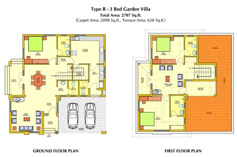kerala home plan elevation and floor plan 2254 sq ft villa elevation plan and omahdesigns net