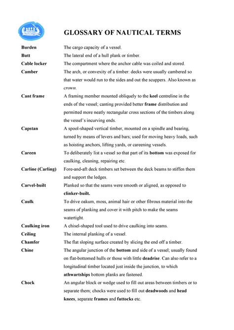 nautical terms bottom of boat glossary of nautical terms