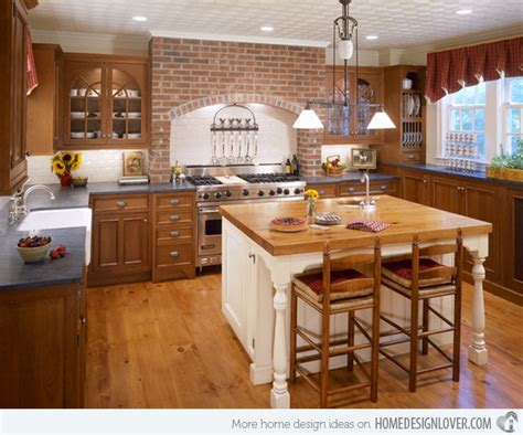 15 Charming But 15 charming brick kitchen designs decoration for house