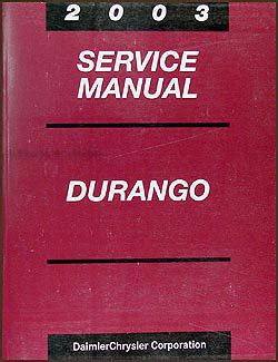 service manual old car owners manuals 2003 dodge viper 2003 dodge durango repair shop manual original