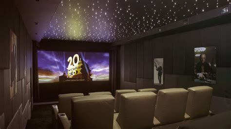 Smart House Design by James Bond Themed Bespoke Home Cinema In Cheshire