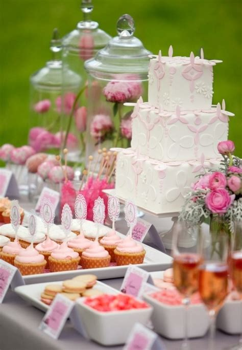 wedding shower dessert ideas 65 pink bridal shower ideas happywedd