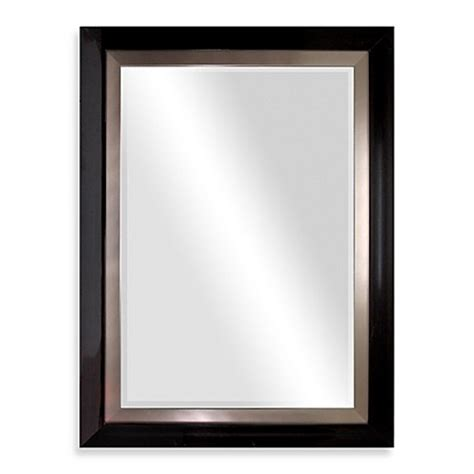 dark brown bathroom mirror biltmore 47 inch x 35 inch wooden veneer large mirror in