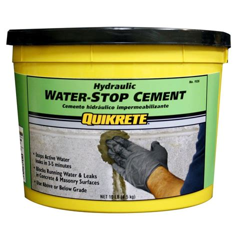 Quikrete 10 Lb Hydraulic Water Stop Cement 112611 The Hydraulic Cement Basement