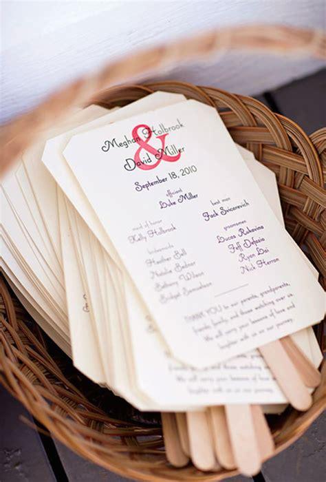 diy wedding program fans abanicos originales para bodas las mejores ideas