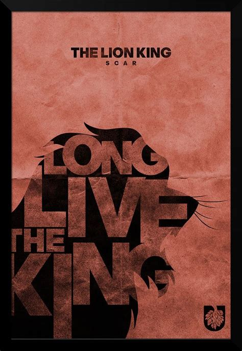 printable lion king poster scar lion king typography print 12 quot x 18 quot 20 00