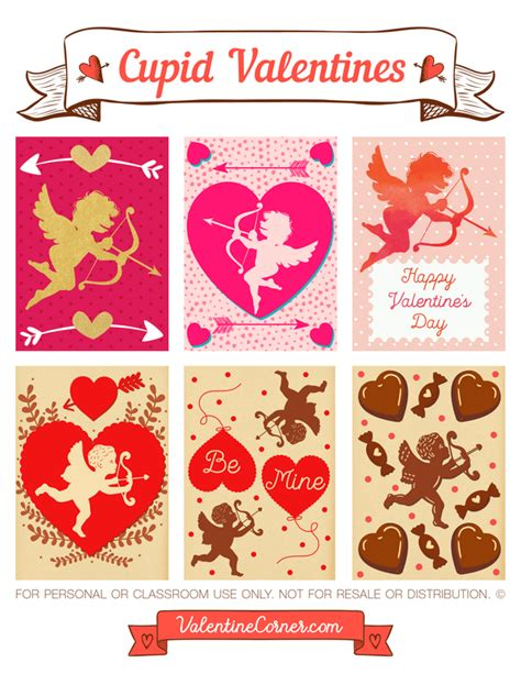 cupid valentines free printables for s day