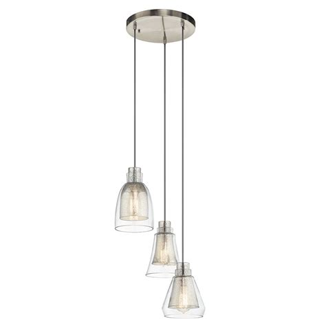 Multi Shade Pendant Light Kichler Lighting Evie Multi Light Pendant With Bowl Dome Shade 43627ni Destination Lighting