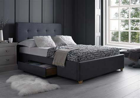 gray storage bed milano grey 2 drawer storage beds beds