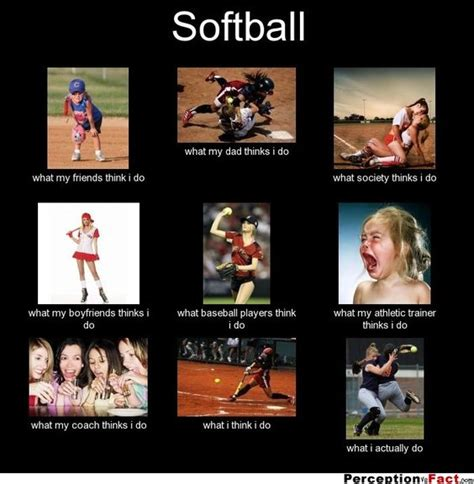 Funny Softball Memes - softball what people think i do what i really do