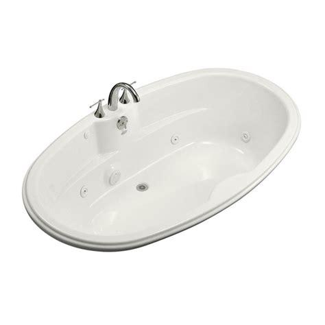 bathtub with heater kohler 6 ft acrylic oval drop in whirlpool bathtub in