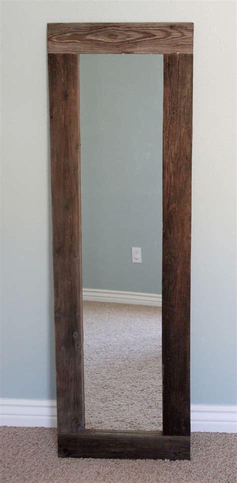 reclaimed wood mirror creatively diy reclaimed wood framed mirror