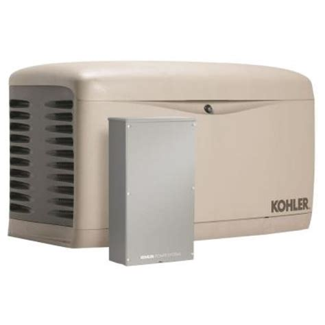 kohler 14 000 watt air cooled standby generator with 200