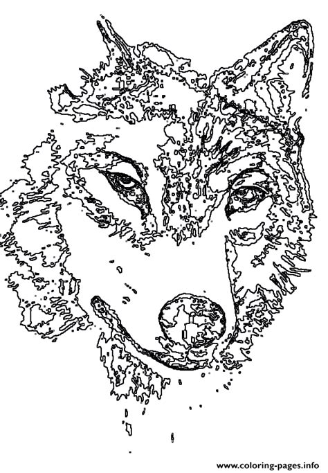 coloring page wolf head animal wolf head coloring pages printable