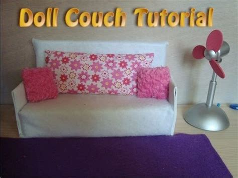 how to make a barbie doll couch how to make doll couch tutorial easy youtube