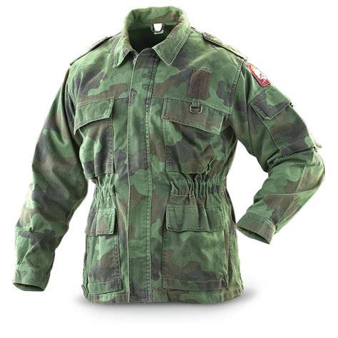 Diskon Jaket Army Jaket 2 In 1 serbian surplus field jacket used 197195 camo
