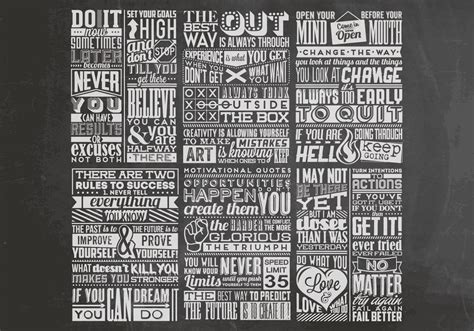 chalkboard inspirational quotes vector