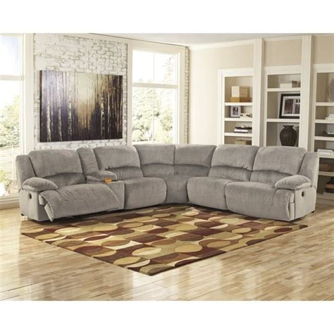 ashley reclining sectional ashley toletta 6 piece corner console reclining sectional