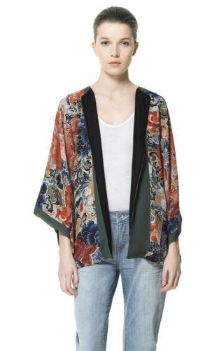 Atasan Kimono Zara Flower Line the world s catalog of ideas
