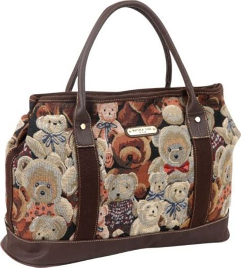 Bag With Teddy teddy tapestry bag