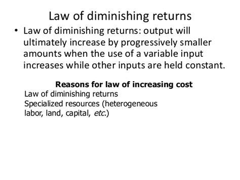 the law of diminishing expectations economics chap2