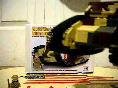lego brickmania wwi mark v british tank youtube