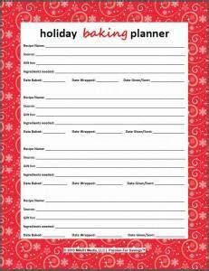 printable holiday baking list free christmas printables holiday budget gift list