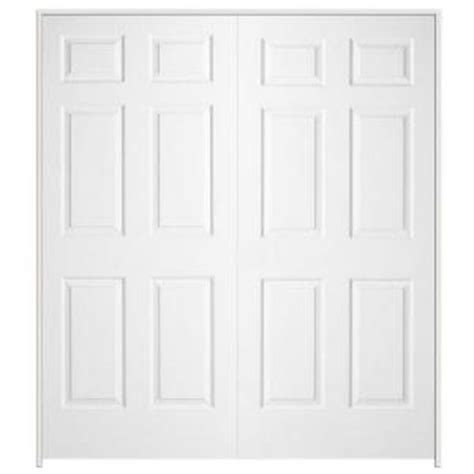 interior double doors home depot 48 in x 80 in colonial primed textured molded composite