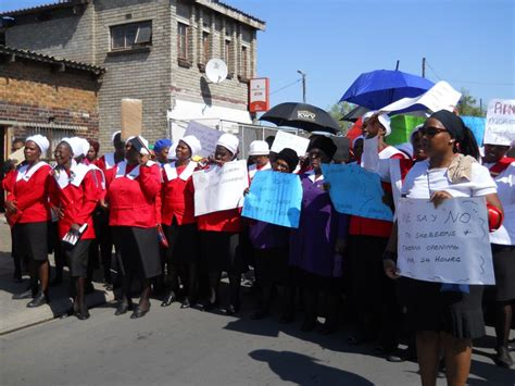 mbekweni residents march  crime groundup