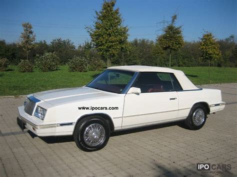 84 Chrysler Lebaron by 1984 Chrysler Lebaron Information And Photos Momentcar