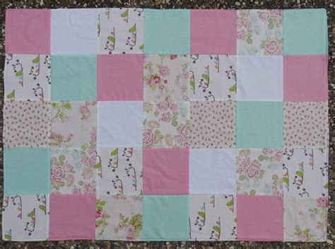 Patchwork Playmat - patchwork baby playmat or baby blanket birds on a branch