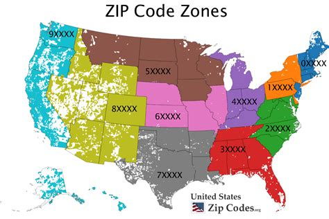 map of usa states zip codes free zip code map zip code lookup and zip code list