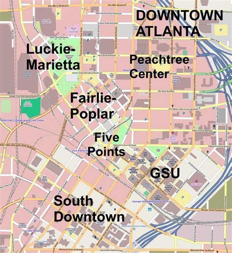us map of atlanta atlanta downtown map map of downtown atlanta united