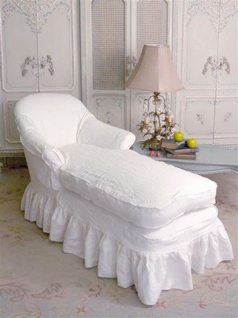 white shabby chic chaise lounge diy chaise lounge slipcover woodworking projects plans