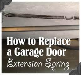 Garage Door Springs Extension Replacement How To Replace Garage Door Extension Springs Guest Post