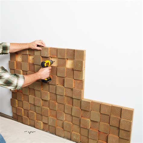 creative wall panels wood block wall