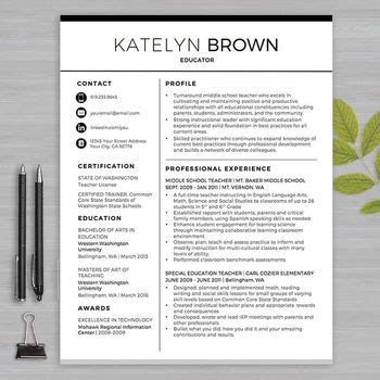 resume templates for educators teaching resume template and resume writing on
